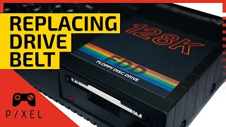 ZX SPECTRUM 128K +3: Replacing the DRIVE BELT   It's a Pixel THING FIXES!