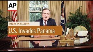 U.S. Invades Panama - 1989 | Today in History | 20 Dec 16