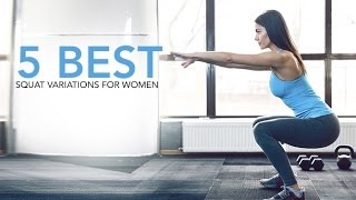 5 Best Squat Exercises for Women (HOME WORKOUT!!)