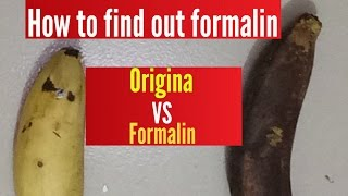 How to find out formalin banana | Original vs medicine banana | real vs fake banana | real vs fake