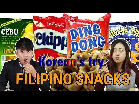 Koreans Taste Filipino Snacks for the first time JKTV