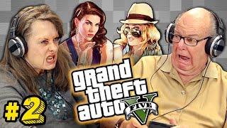 Elders Play Grand Theft Auto V #2 (Elders React: Gaming)
