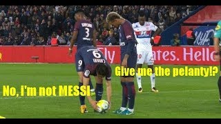 Neymar JR & Cavani Fight for Penalty & Free Kick (Cavani's Not Messi)