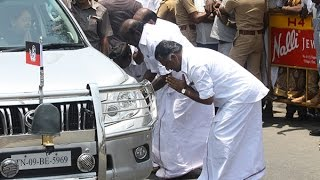 OPS respecting Jayalalitha's car