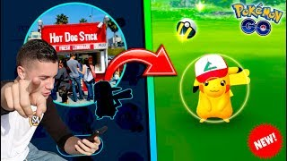 CATCHING *NEW* 1 YEAR ANNIVERSARY PIKACHU IN POKEMON GO! New Special Edition Pikachu is HERE!