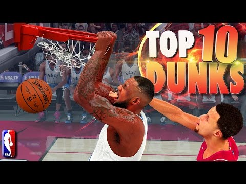 NBA 2K16 TOP 10 DUNKS, POSTERS,