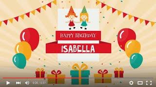 Happy Birthday Isabella, full HD 1080p