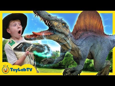 DINOSAUR SURPRISE TOY HUNT & Kids Family Game Parent vs Kid w/ Spider Prank & Dino Toys for Children