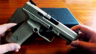 Canik TP9SF. How to change back straps