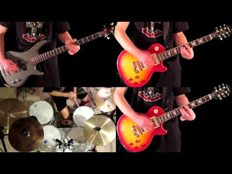 Welcome To The Jungle Guns N' Roses Guitar Bass and Drum Cover