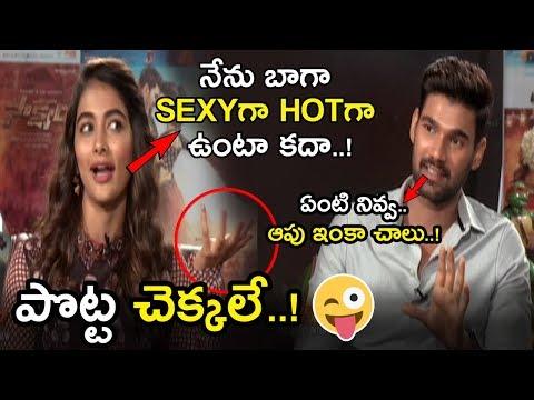 Xxx Mp4 Pooja Hegde Making Fun With Bellamkonda Sreenivas Pooja Hegde Interview About Saakshyam NSE 3gp Sex