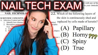 I Take A Nail Technician Exam (pass or nail?)
