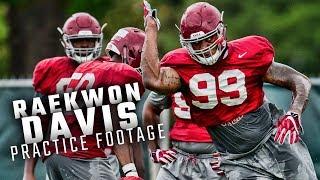 Watch Raekwon Davis run drills during fall camp