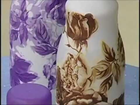 Colorgin no Ateliê na TV Pintura e decoração em vidro