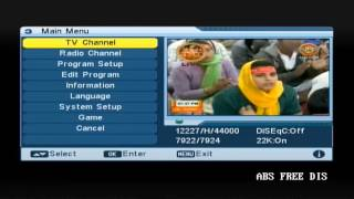 How to Tune ABS Free Dish in Ordinary FTA Set Top Box