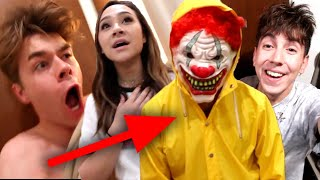 CLOWN PRANK ON ROOMMATES!! (FREAKOUT)