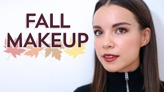 Fall Makeup Tutorial! Copper Eyes + Bold Lip | Ingrid Nilsen