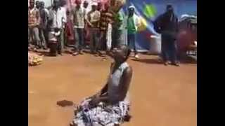 A Ball-Juggling Talented African Lady