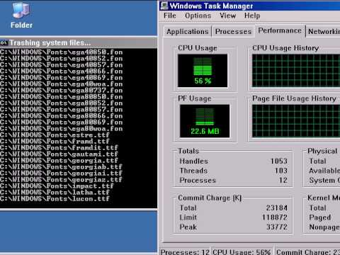 26MB Windows XP using a batch file