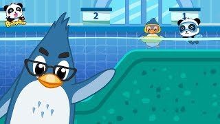 Baby Panda Plays Water | Learn How to Swim | Safety Tips for Kids | BabyBus