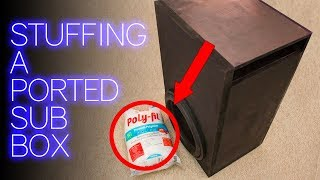 Ported Bass Box + Stuffing? | BEFORE & AFTER RESULTS