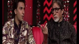 Big B with Deepika and Ranveer on 'The Front Row'