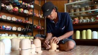 Kerajinan boneka lukis 3D Bokumi dari limbah kayu - NET12