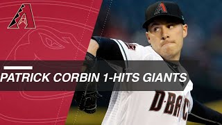 Corbin flirts with no-hitter, completes one-hitter