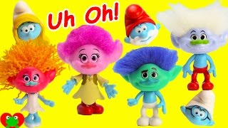 Smurfs The Lost Village with Wrong Troll Heads and Surprises