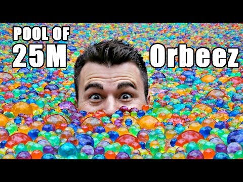 25 MILLION Orbeez in a pool- Do you sink or float?