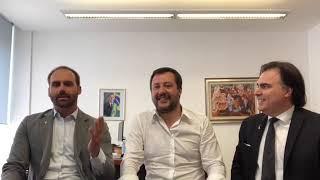 Live Eduardo Bolsonaro🇧🇷 Matteo Salvini🇮🇹 e dep. Roberto Lotenzato🇧🇷🇮🇹 (19/ABR/2019)