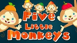 Five Little Monkeys | Nursery Rhyme | Kids Songs