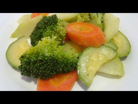 VERDURAS A LA MANTEQUILLA Escuela de cocina 27 verduras al vapor