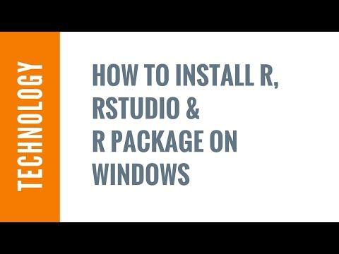 Installing R & RStudio on Windows - 15 min