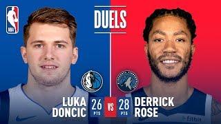 Luka Doncic & Derrick Rose Battle in Dallas