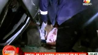 Oficial de la Marina sufre aparatoso accidente en la Costa Verde