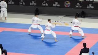 Final Kata Team Male - SPAIN vs JAPAN - Karate World Championship MADRID 2018