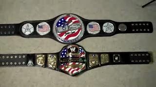 WWE United States Championship vs. John Cena's United States Spinner Replica Belt Comparison