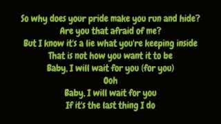Elliott Yamin - Wait For You (Lyrics HD)