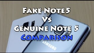 Samsung Note 5 Fake VS Genuine Note 5 Comparison, Unboxing and Overview