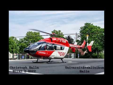 Landung vom Christoph Halle am UKH