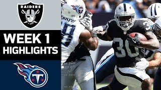 Raiders vs. Titans | NFL Week 1 Game Highlights