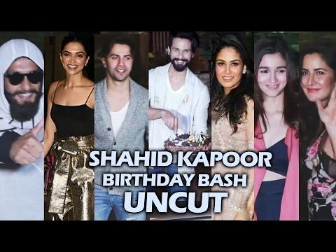 Shahid Kapoor's Birthday Party 2017 | Full HD Video | Katrina, Deepika, Varun, Ranveer, Alia