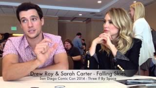 Comic Con 2014 Falling Skies - Drew Roy & Sarah Carter Part 4