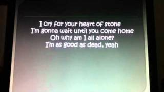 Erasure -- Heart of Stone [Lyrics on Screen]