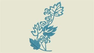 Flower Rose - Free Embroidery Designs