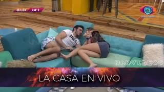 Madrugada 17/08 - Pato y Yasmila en el sofa Gran Hermano 2016