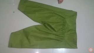 SIMPLE SALWAR WITH POCKET CUTTING AND STITCHING METHOD HINDI PART--2