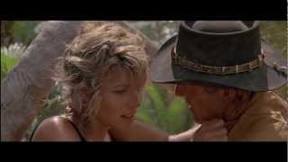 Crocodile Dundee - A crocodile attacks Sue