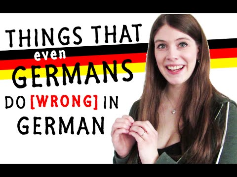 Things even GERMANS do WRONG in